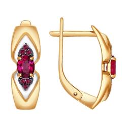Золотые серьги (Рубин) SOKOLOV