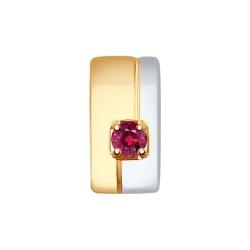 Подвеска из золота с рубином