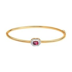 Браслет из золота с бриллиантами и рубином