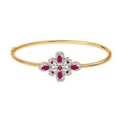 Браслет из золота с бриллиантами и рубинами