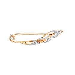Булавка из золота с бриллиантом