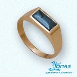 Золотое мужское кольцо с ониксом