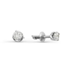 Гвоздики из белого золота с крупными бриллиантами
