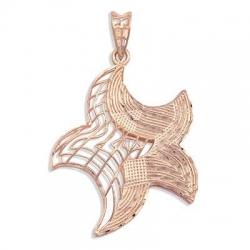 Золотая подвеска Морская Звезда