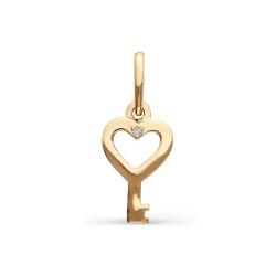 Маленькая золотая подвеска в виде ключика