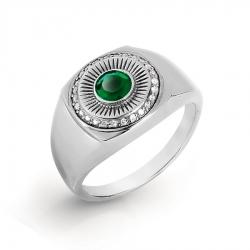 Золотое кольцо с бриллиантами и ониксом