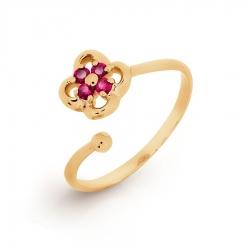 Детское Золотое кольцо с рубином