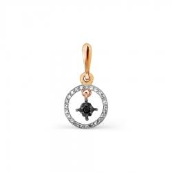 Золотая подвеска с бриллиантами, Swarovski Zirconia