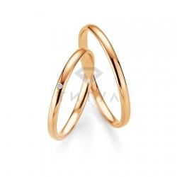 Золотые парные обручальные кольца (ширина 2 мм.) (цена за пару)