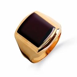 Золотая печатка с ониксом
