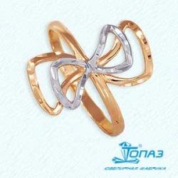 Золотое кольцо Бант без камней