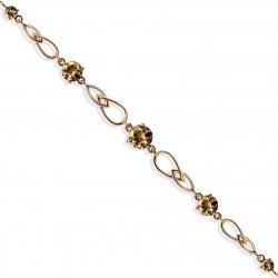 Золотой браслет с раухтопазами