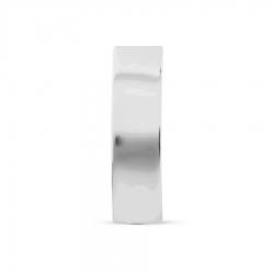 Серьга-гвоздик из белого золота без камней