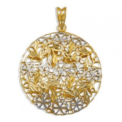 Подвеска Ажур из желтого золота