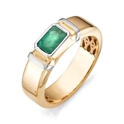Мужское кольцо с большим изумрудом