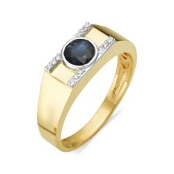 Мужское кольцо с большим сапфиром