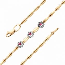 Золотой браслет с рубином