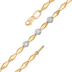 Браслет из золота с бриллиантом