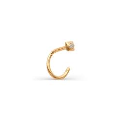 Золотой пирсинг с одним бриллиантом
