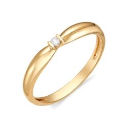 Помолвочное кольцо из золота с маленьким бриллиантом