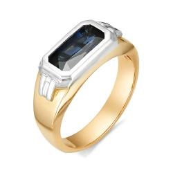 Мужское кольцо c большим сапфиром