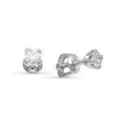 Гвоздики из белого золота с бриллиантами