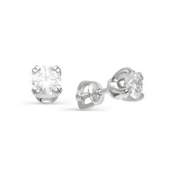 Гвоздики из белого золота с большими бриллиантами