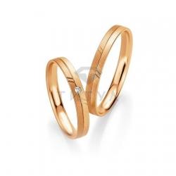 Золотые парные обручальные кольца (ширина 3 мм.) (цена за пару)