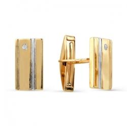 Золотые запонки с бриллиантами
