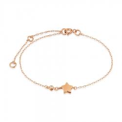 Золотой браслет Звезда с фианитом