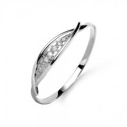 Т301015648 кольцо из белого золота с бриллиантами