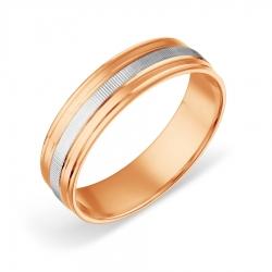 Обручальное кольцо из комбинированного золота без камней