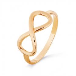 Золотое кольцо Бесконечность без камней