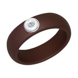 Кольцо из белого золота (Керамика, Бриллиант) SOKOLOV