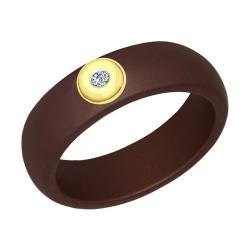 Керамическое кольцо с бриллиантом SOKOLOV