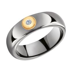 Кольцо из золота с бриллиантами и керамическими вставками