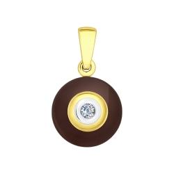 Керамическая подвеска с красным золотом SOKOLOV
