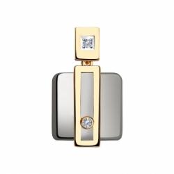 Подвеска из золота с бриллиантами и керамическими вставками Sokolov