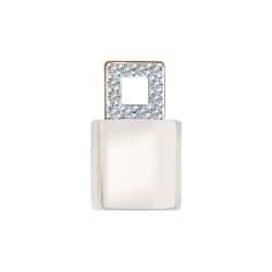 Подвеска из золота с бриллиантами и керамической вставкой