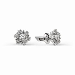 Золотые гвоздики в виде цветов с бриллиантами