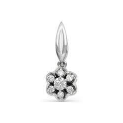 Подвеска Цветок из белого золота с бриллиантами