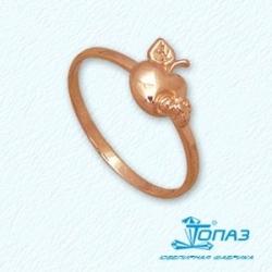 Детское золотое кольцо Яблоко без камней