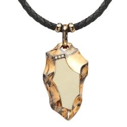 Мужское золотое колье с коньячным бриллиантом