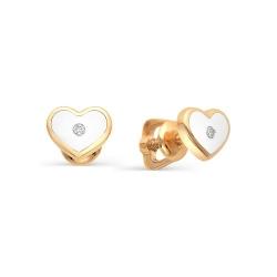 Золотые гвоздики с эмалью и бриллиантами