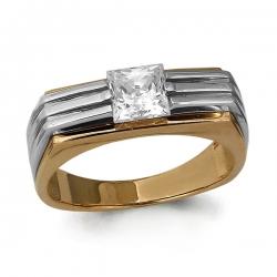 Мужское золотое кольцо с Swarovski Zirconia