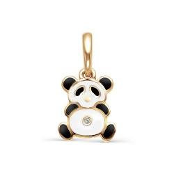 Золотая подвеска Панда с бриллиантами