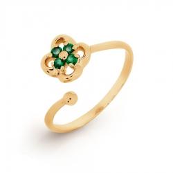 Детское Золотое кольцо с изумрудом