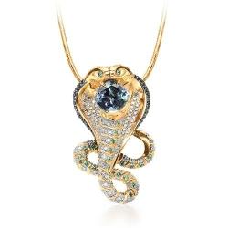 Эксклюзивное золотое колье с изумрудами и бриллиантами
