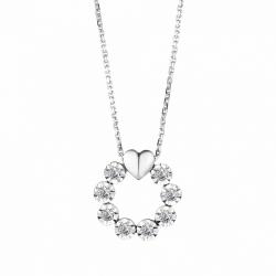 Колье с бриллиантом из белого золота