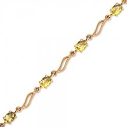Золотой браслет с цитринами